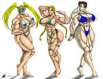 Commission: Muscle Girls
