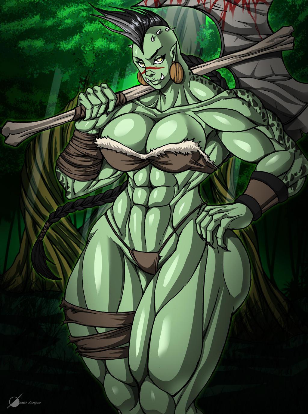 Female Orc by Osmar-Shotgun on DeviantArt
