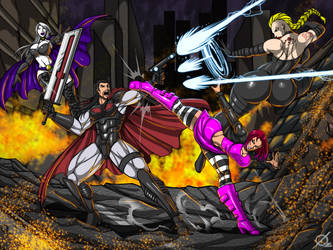 Commission: Fight by Osmar-Shotgun