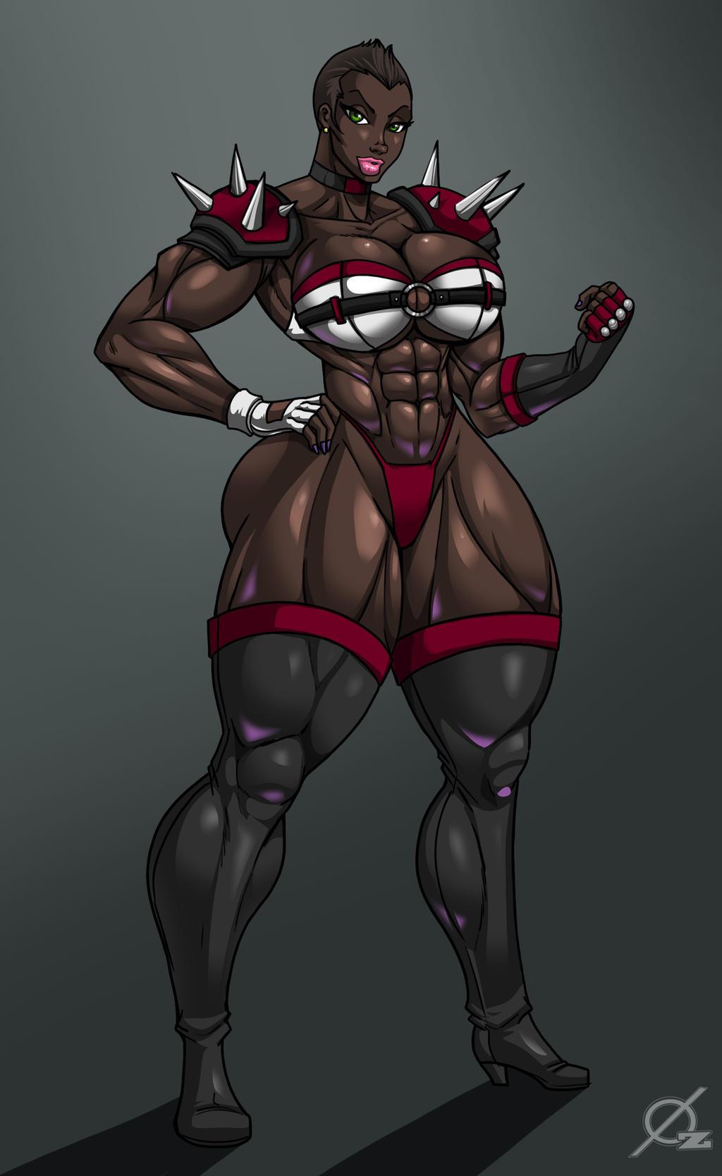 Patreon Reward: Ebony Wrestler by Osmar-Shotgun