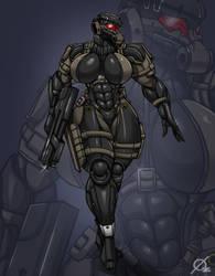 MGS Female Soldier by Osmar-Shotgun