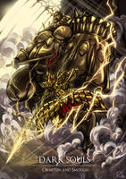 Dark Souls: Ornstein and Smough by Osmar-Shotgun
