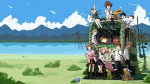 Digimon Adventure Tri Train Wallpaper