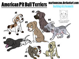 American Pit Bull Pups--ADOPTABLES by MartoonsZoo
