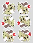 Mimikyu Valentine Theme Stickers! by xSugar-POPx