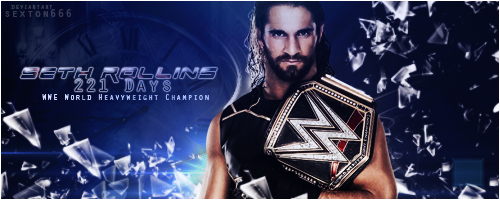 Seth Rollins 221 Days by Sexton666