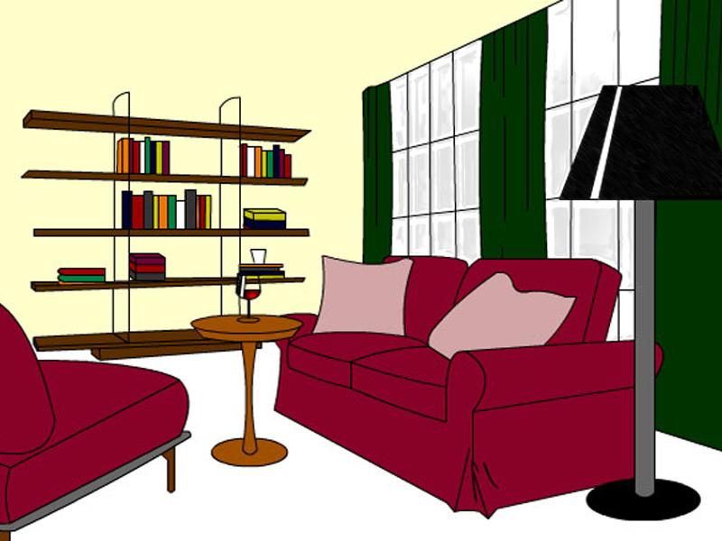 Animated Living Room
