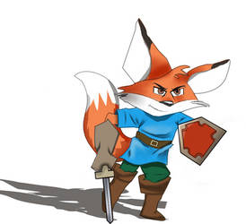 Kingsley the fox knight by Z-nab27