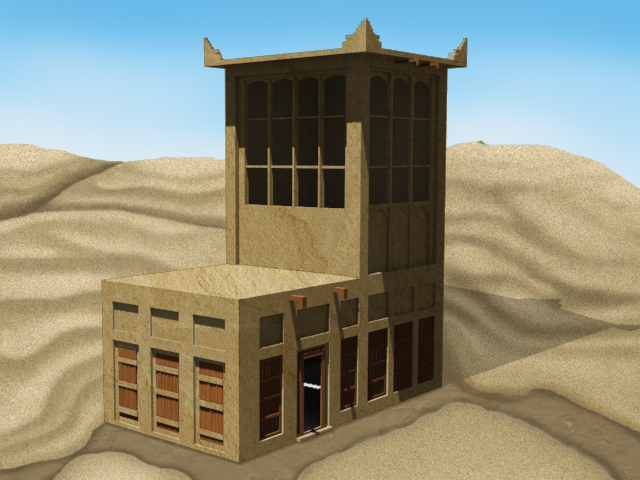Traditional Middle Eastern Wind Tower by Z-nab27