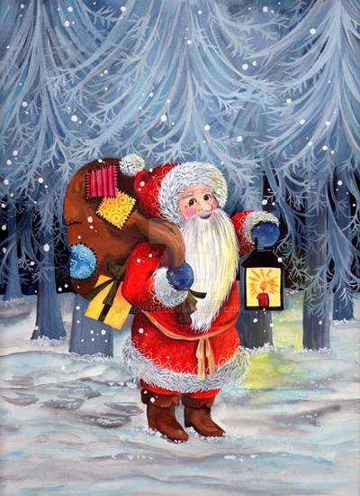 Santa on his way by Tieneke