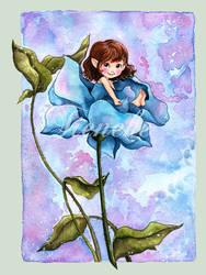 Cornflowerblue by Tieneke