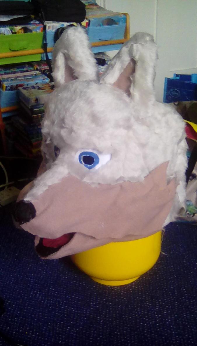 Wolf fursuit head WIP 6 by ewan4me