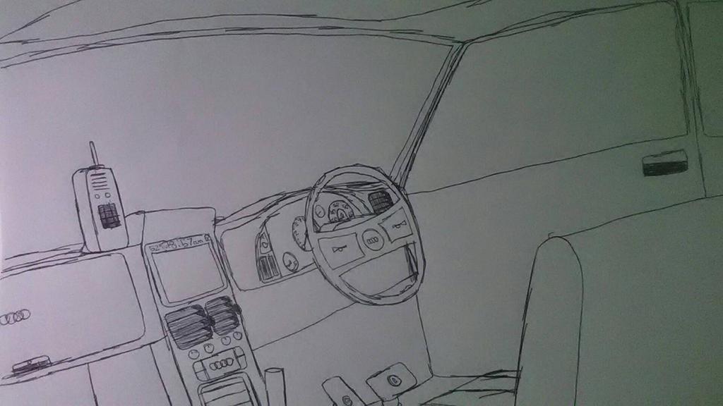Audi RS4 Interior by Sebastian412