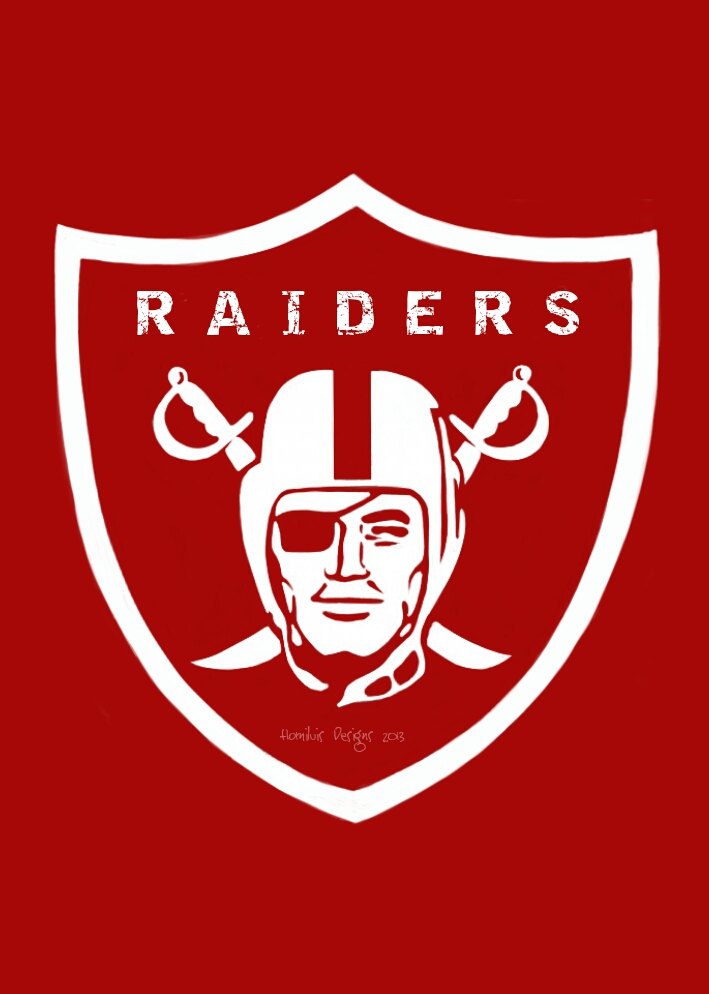 Raiders logo (red edition) by HomiluisDesigns
