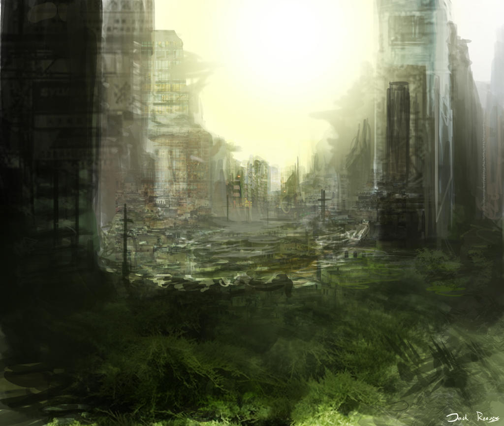 Post Apocalyptic City by Reeves123 on DeviantArt
