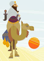 arab and a camel by yesthisisaaron