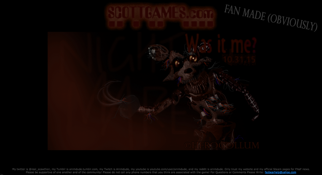 And final installment of the fnaf gme series scott you said that fnaf