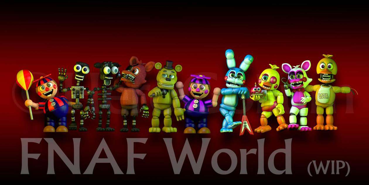 Fnaf world art by herogollum on deviantart