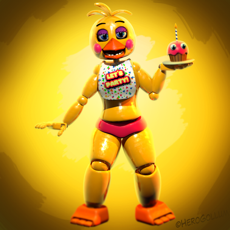 Toy Chica v4 Download - CURRENTLY CINEMA 4D by HeroGollum on