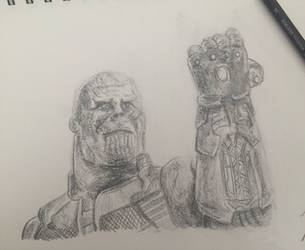 THANOS (Just a Practice Drawing) by HeroGollum