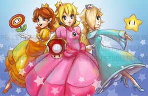 Peach and Friends by Pew-PewStudio