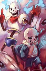 Skeleton Bros by Pew-PewStudio