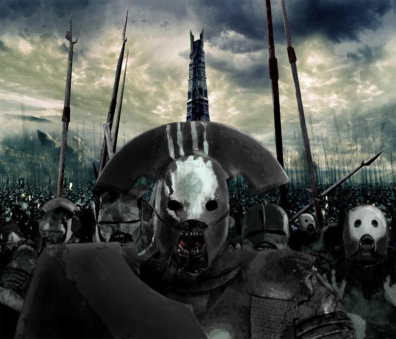 Black Orcs, Uruk Hai by Skinny22