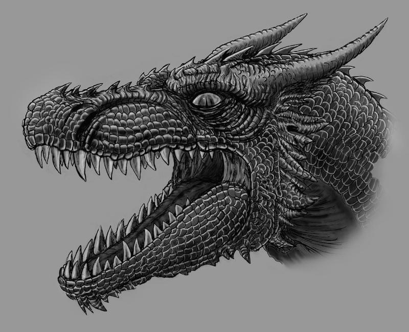 Dragon, detail by Skinny22