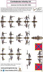 202 Confederate Infantry 1.4 by TuliusHostilius