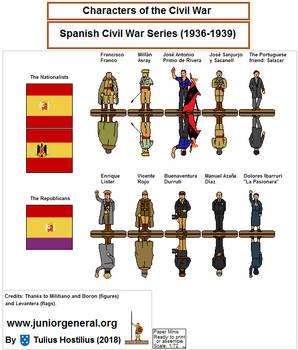 11 Personagens da Guerra Civil de Espanha 1.1