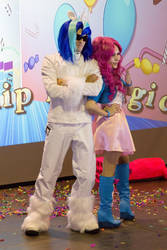 Vinyl Scratch and Pinkie Pie cosplay