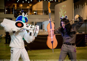 Vinyl Scratch and Octavia Melody cosplay