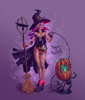 Pumpkin Witch by BONESofBURIED