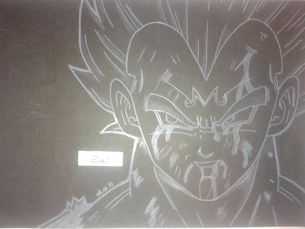 Dibujo Majin Vegeta Black And White By Zaiko2016 On Deviantart