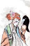 Self Portrait as Geisha + Bird