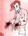 Nirel with Bloody Hands