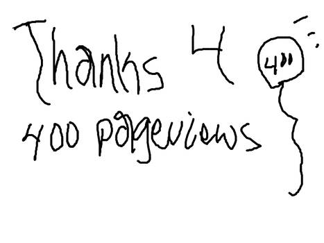 THANKS FOR 400 PAGEVIEWS