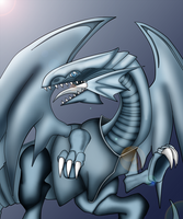 Blue eyes white dragon colored by dragonfire1000