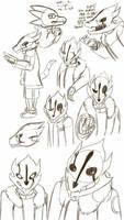 Double G! blaster Sans Doodles by dragonfire1000