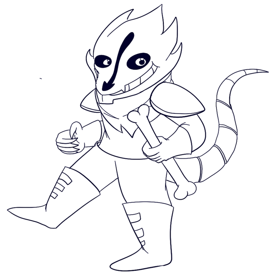 Underfell sans page coloring pages for Sans coloring page