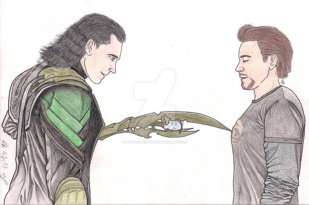 Loki and Tony by lilly-b-deadly