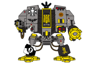 Space Marine Dreadnought (Colored) by DomeOfBones