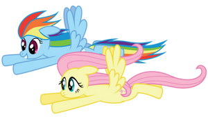 Dash and Fluttershy by Midnight--Blitz