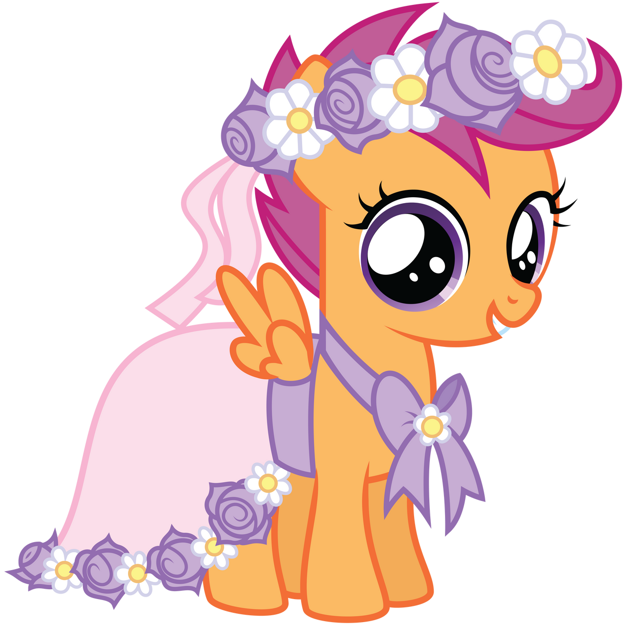 My Little Pony Wedding Flower Fillies: Flower Filly Scootaloo By Midnight--Blitz On DeviantArt