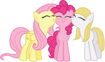 Fluttershy, Pinkie and Libman