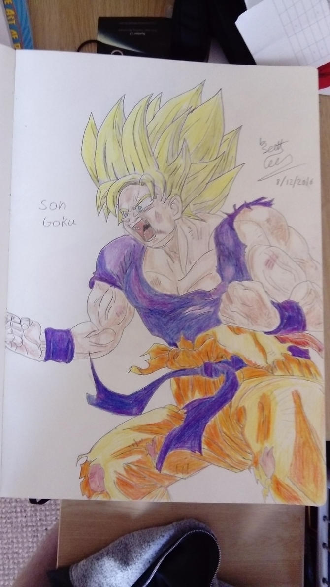 Drawing of goku by ScottPendragon