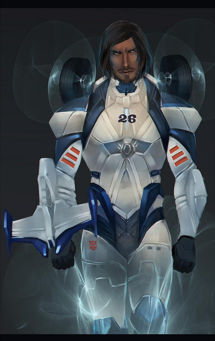 Mirage (humanized) Autobot spy by Valong