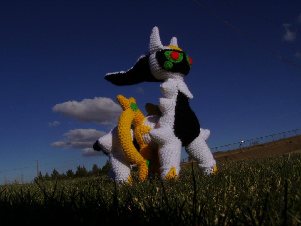 Crochet Arceus Plushie by Taikxo