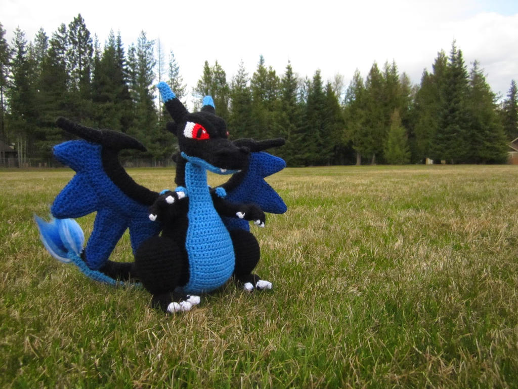 Crochet Mega Charizard X by Taikxo on DeviantArt