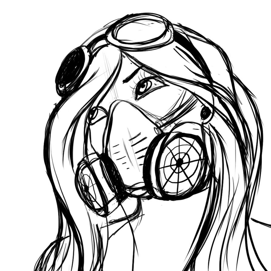 Gas Mask Girl By 0Saphex0 The Melting Pot Pinterest Masks Masks And Girls
